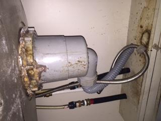 水道修理|札幌市 豊平区 月寒西|台所排水の水漏れ修理 ¥17,280税込